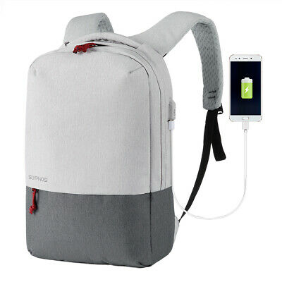 Anti-theft Men Laptop Notebook Backpack USB Charge Business Sport Bag Waterproof