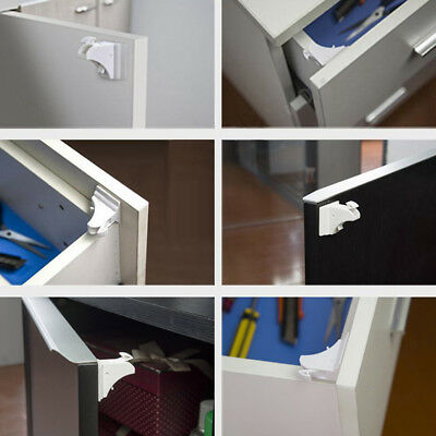 10Pcs/Set Magnetic Cabinet Drawer Cupboard Safety Locks For Baby Kids Protection
