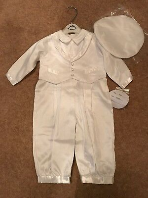 Sarah Louise White Special Occassion/Christening Romper 6m Brand New With Tags