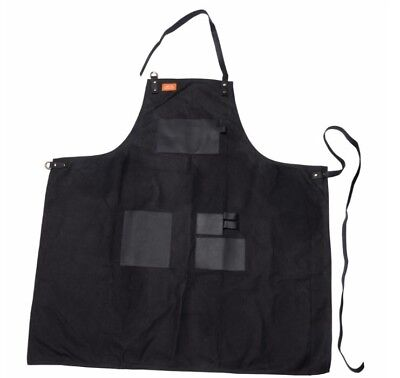Traeger® Canvas & Leather Waxed Apron, Black, Brand New! BBQ
