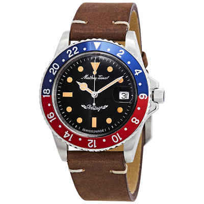 Mathey-Tissot Rolly Vintage Automatic Black Dial Pepsi Bezel Men's Watch