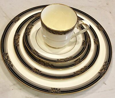 NORITAKE China SPELL BINDER 9733 Place Setting 5 Piece Excellent Condition