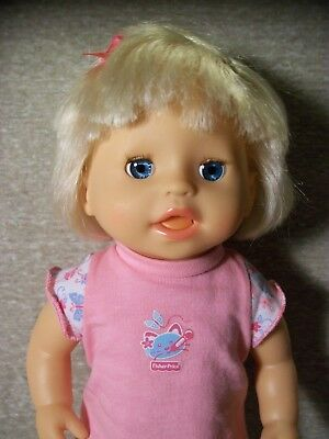 """Fisher-Price Little Mommy Interactive Baby Ah-Choo Doll, Sneezing, Sick, 14"""""""
