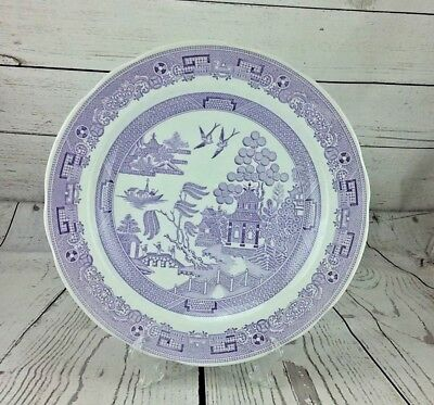 Spode Archive Collection Georgian Series Lilac Purple Willow Dinner Plate