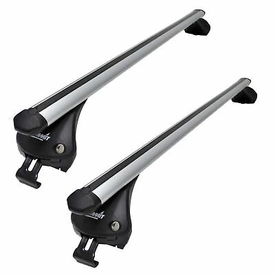 UKB4C Roof Rack Cross Bars fits Fiat /& Abarth 500 2007-2017