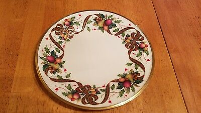 """Lenox China~Dimension Collection~Holiday Tartan~ Accent Salad Plate~9 3/8"""""""