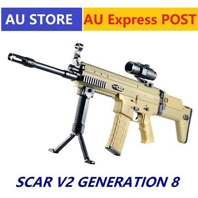 Jinming Gen8 SCAR V2 With Upgraded Nylon Gearbox Gel Ball Blaster Toy Adult Size