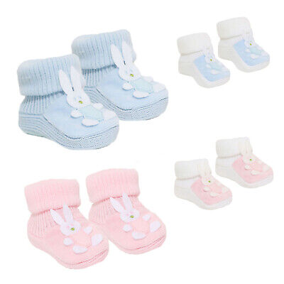 Baby Boys Girls 1 Pair Booties Baby Bunny Bootees Soft Touch Booties S421