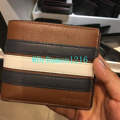 730b7f942c7e NWT COACH F24649 Men s Compact ID Leather Wallet  175 -  54.99 ...