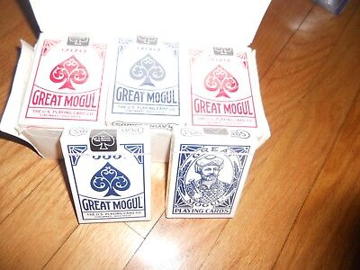 Great Mogul (12) PACK POKER PLAYING CARDS NEW SEALED PACKS Made in USA Blue /Red