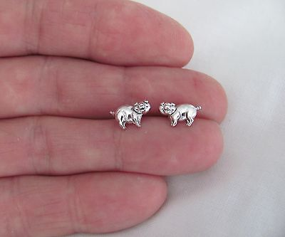 Sterling Silver 7mm pig with Hypo-Allergenic Post stud earrings.