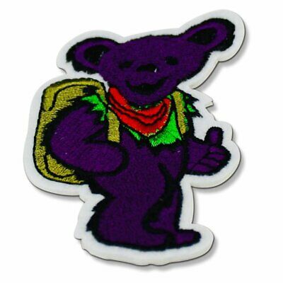 Grateful Dead Patches - Purple Dancing Bear w/ Backpack, Deadhead Gifts, Patch