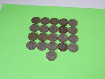 21 Coin lot of Philadelphia Mint Buffalo Nickels in AG or Better Condition