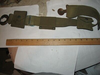 WWI Mills woven cartridge belt with pouches