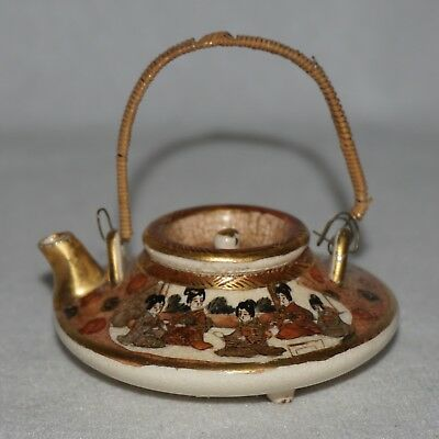 Antique Japanese Satsuma Miniature Teapot