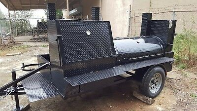 Mobile BBQ Smoker 30 Grill Trailer Catering Food Truck Concession Business Cart