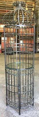 Large Steel Wine Rack And Glass Storage Unit