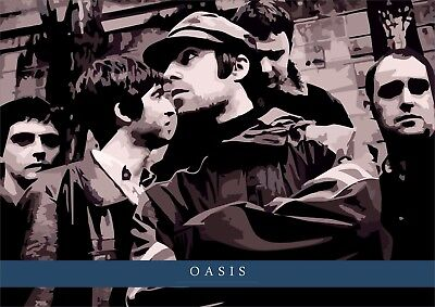 Oasis A3 Art Print Poster - Very Ltd Edition. Liam and Noel Gallagher