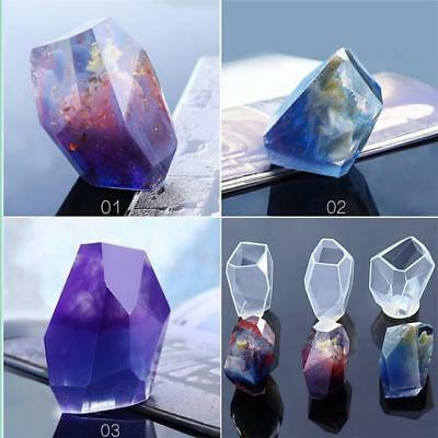 Crystal Geometric Silicone Resin Molds Jewelry Making Pendant Mould DIY WA