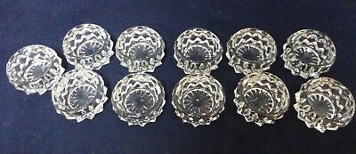 Set Of 6 Antique Vintage Salt Cellar Dips Clear Glass Or Crystal