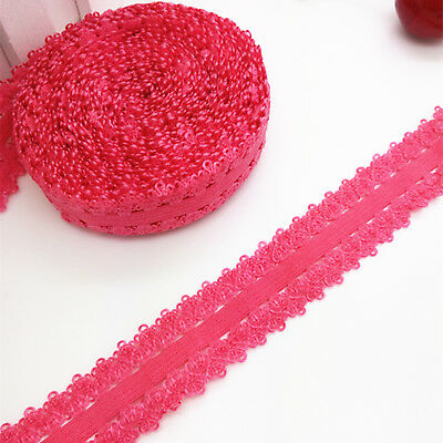 "New Hot 5 yards 3/4"" 20mm Lace Multirole fold over elastic Spandex Satin Band"