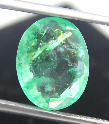 Hurry GGL Certified 3.20 Ct  Natural Oval Cut Top Quality Green Emerald Gemstone