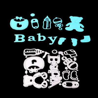 baby toy Metal Cutting Dies Stencil for DIY Scrapbook Album Paper CardsBILU