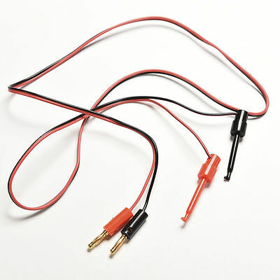 1 Pair Banana Plug To Test Hook Clip Probe Lead Cable For Multimeter EFBILU