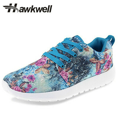 Hawkwell Women Lady Fashion Lightweight sneakers Floral Printed Sports Outdoor