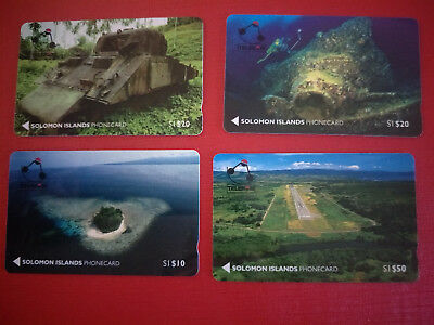 Solomon Islands 50th Anniversary of Guadalcanal Phonecard Set