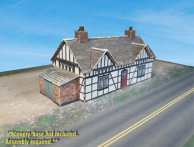 N Scale Building - English Tudor Cottage / House (Cover Stock PRE-CUT Paper Kit)