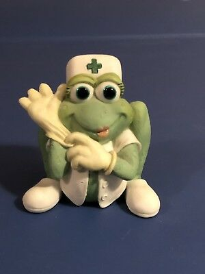 Adorable Nurse Frog Figurine