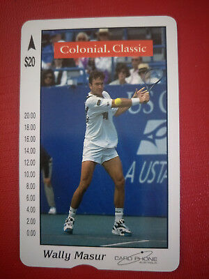 Card Phone $20 Colonial Classic Wally Masur Phonecard only 250 Issued