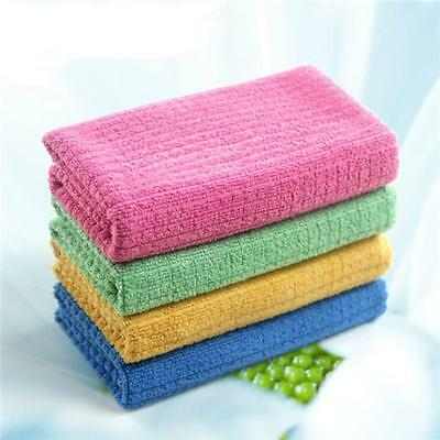 4Pcs Microfiber Cleaning Cloth Microfiber Dish Car Gym Towel Glass WA