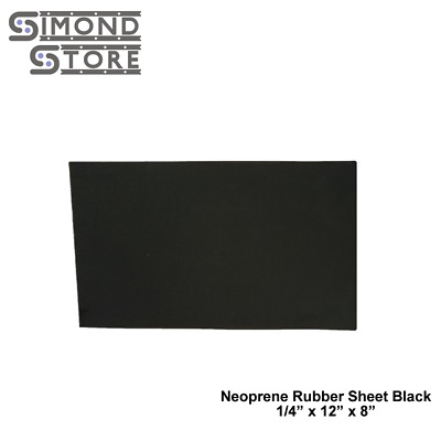 "Neoprene Rubber Sheet Black 1/4"" thick x 12"" x 08"" FREE SHIPPING 55A+/-5"