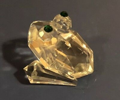Adorable Small Glass Frog Figurine