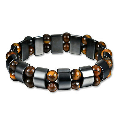 Black&Magnetic Bracelet Hematite Stone Therapy Health Care Weight Loss JewelryBL