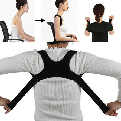Posture Corrector Shoulder Upper Back Adjustable Clavicle Support Brace SW
