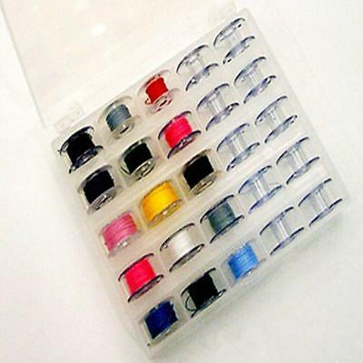 1Pcs 25 Spools Plastic Empty Bobbins Case For Brother Singer Sewing Machine SW