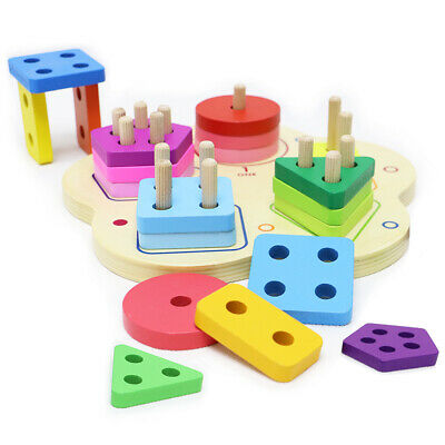 Wooden Toddler Toys for Boys \u0026 Girls Age 2 Years and Up, Educational Shape Color WOODEN TODDLER TOYS