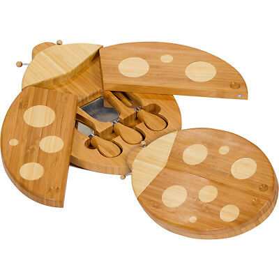 Picnic Plus Lady Bug Cheese Board - Brown Outdoor Accessorie NEW