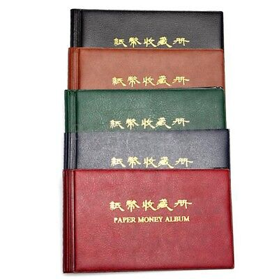 Album Cover Pouch Case Binder Collection Pocket Currency Banknote Bank Q7E3