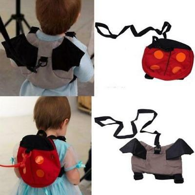 Childrens Toddler's ladybird backpack with Safety Reins New Child Rucksack Bag T