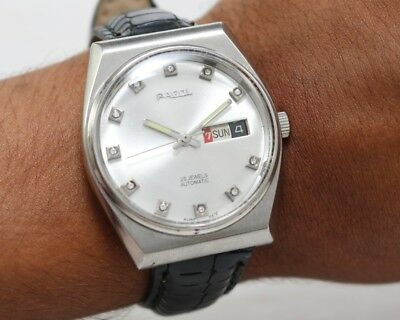Felca Automatic Day Date Swiss Made Men's Vintage Watch - working - serviced