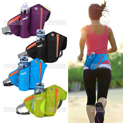 Bum Waist Belt Bag Pockets Running Bottle Phone Key Holder Travel Jogging Sports