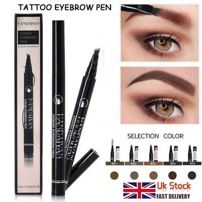 Original TatBrow Microblade Pen -Defined Brows All Day -4 Head Fork Tip UK