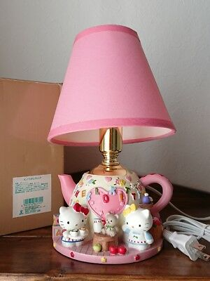 Rare Hello Kitty Teapot type lamp tea party with Kitty and Mimi Diorama hand