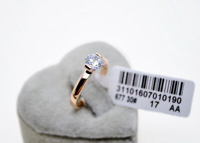 100% Brand New Genuine 18K Rose Gold 1.25 ct Engagement Eternity Ring size 8