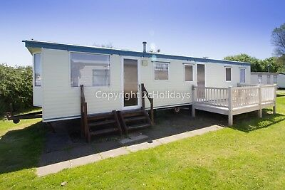 Caravan for hire at Broadland Sands Holiday Park. Near Great Yarmouth. REF 20015