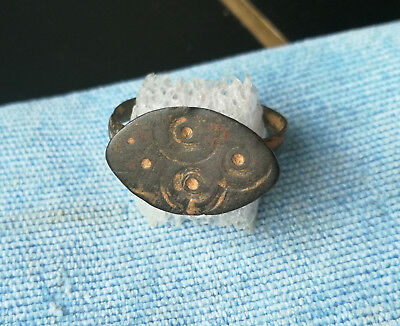 **Space Circles** Ancient Bronze Legionary Roman Ring AMAZING